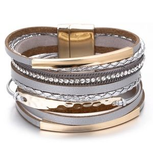 Coming soon! Silver & Gold Magnetic Wrap Bracelet